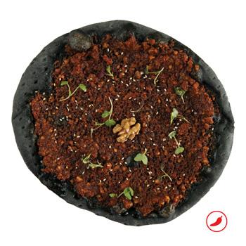 a photo of Muhammara flatbread