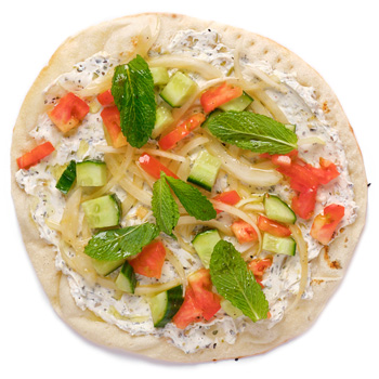 a photo of Labneh flatbread