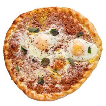 a photo of Eggs & Lahm B Ajeen flatbread