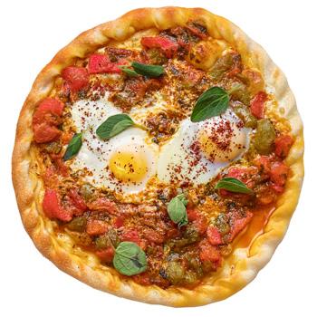 a photo of Eggs & Shakshuka flatbread